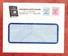 Brief, Annuaire Du Marche Commun, MiF Heraldischer Loewe Mit Vorausentwertung 1965 + 1966 (25367) - Belgien