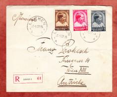 Reco Einschreiben, MiF Tuberkulose, Laeken Nach Wien 1937 (25369) - Belgien