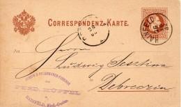 AUTRICHE ENTIER POSTAL HAINFELD 1882 - Ganzsachen