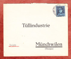 Brief, EF Koenig Albert, Bruxelles Nach Muenchwilen 1935? (25371) - Belgien