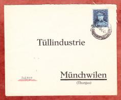Brief, EF Koenig Albert, Bruxelles Nach Muenchwilen 1938? (25372) - Belgien