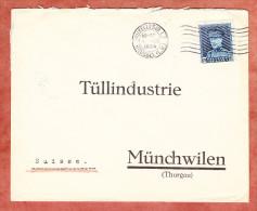 Brief, EF Koenig Albert, Bruxelles Nach Muenchwilen, AK-Stempel 1934 (25373) - Belgien