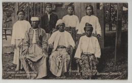 RPPC, BURMESE CHRISTIAN CONVERTS, MISSION,YE, MON STATE,  MYANMAR, BURMA, C1920s? - Myanmar (Burma)