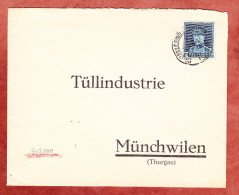 Brief, EF Koenig Albert, Bruxelles Nach Muenchwilen 1934? (25374) - Belgien