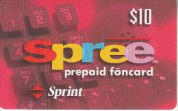 USA - Spree, Sprint Prepaid Card $10, Exp.date 30/09/98, Used - Sprint