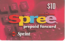 USA - Spree, Sprint Prepaid Card $10, Exp.date 30/09/98, Used - United States
