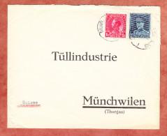 Brief, MiF Koenig Leopold + Albert, Bruxelles Nach Muenchwilen (25375) - Belgien
