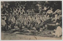 3 X PC, VILLAGE SCENE, DANCING GIRLS, HILL ROAD,  MYANMAR, BURMA, C1920s? - Myanmar (Burma)