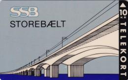 Denmark, KP 024, SSB, Storebælt, Bridge, Mint, Only 3.000 Issued, 2 Scans - Denmark