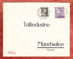 Brief, MiF Koenig Leopold, Berchem St Agatha Nach Muenchwilen 1939 (25380) - Belgien