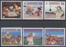 Alderney MiNr. 151/56 ** Fernsehtrickfiguren Wombles - Alderney
