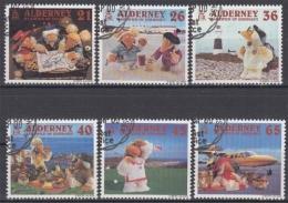 Alderney MiNr. 151/56 O Fernsehtrickfiguren Wombles - Alderney