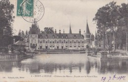 91 SOISY Sur ECOLE  Le Beau CHATEAU Des REAUX  Reflet Dans La PIECE D' EAU Timbré 1907 - Frankreich
