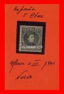 ESPAÑA ALFONSO XIII AÑO 1901 - 1889-1931 Reino: Alfonso XIII