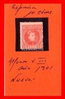 ESPAÑA - ALFONSO XIII AÑO 1901 - 1889-1931 Reino: Alfonso XIII
