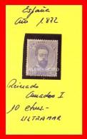 ESPAÑA - AMADEO I REINADO 1872 - 1872-73 Reino: Amadeo I