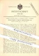 Original Patent - Albert Ritter-Clor Und Oskar Glatz In Zürich , 1896 , Elektrische Signaluhr , Uhr , Signal , Eisenbahn - Documents Historiques