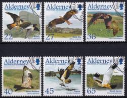 Alderney MiNr. 188/93 O Zugvögel: Greifvögel - Alderney