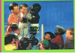 Petitcollin, Match De Boxe, (baigneurs, Poupons, Bébés, Jouets), 2006, Calendrier Publicitaire 1956 - Poupées