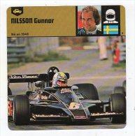 Sept15  70402  Nilsson Gunnar  ( Fiche Auto ) - Automobile - F1