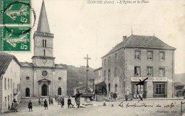ECOCHE   L'église Et La Place - Firminy