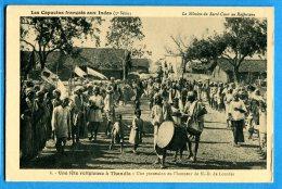 GGE043, Capucins Français Aux Indes, Fête Religieuse à Thandla, Mission Du Sacré-Coeur Au Rajputana,animée,non Circulée - Missions