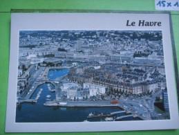 246) Le Havre :vue Aerienne Generale  :recto-verso - Le Havre