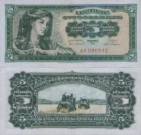 YUGOSLAVIA 5 Dinara 1965  UNC , P-77  But Larger Serial Number Numerals - Yougoslavie