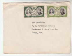 1956 MONAC0 Stamps COVER  To Henderson School Librarian Tampa USA - Monaco
