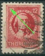 SBZ Thüringen Freimarke Mit Plattenfehler 97 AX Aax XI Gestempelt - Zone Soviétique