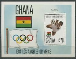 Ghana 1984 Olympiade Los Angeles Block 109 Postfrisch (R20179) - Ghana (1957-...)