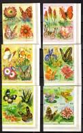 Burundi 1973, Papillons Et Fleurs, 580 / 603** Non Dentelés, Cote 850 €, - 1970-79: Neufs