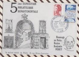 CM 931 CM Carte Maximum 1ER JOUR 1984 EXPO PHILATELIQUE REZE HOMMAGE BENJAMIN PERET - 1980-89