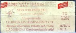 Biglietto Di Trasporto Autobus (Madrid) - Biglietti Di Trasporto