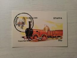 BLOC Oblitéré - STAFFA - Locomotive. - Treni