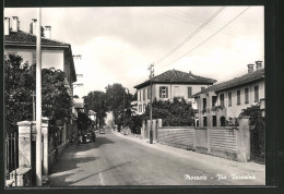 Cartolina Mozzate, Via Varesina, Strassenansicht - Italy