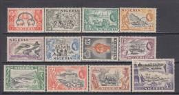 1953   YVERT  Nº 76 / 87  / * / - Nigeria (...-1960)
