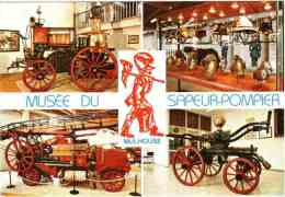 CPM 68 (Haut-Rhin) Mulhouse - Musée Du Sapeur-pompier, Multivues - Brandweer
