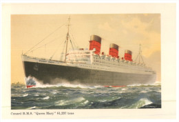(777) Cruise Ship  - Paquebot Cunard R.M.S Queen Mary - Dampfer