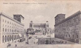 Italy 1917 Roma Piazza Venezia Unused Postal Card - Italie