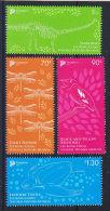 Singapore 2015 Natural History Museum 4v Set MNH Dinosaur Turtle Bird Dragonfly - Stamps