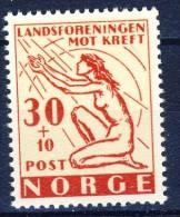 ##Norway 1953. Fighting Cancer. Michel 379. MNH(**) - Norvegia