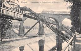 "02229 ""WUPPERTAL - ELBERFELD SCHWEBEBAHN U. EISENBAHNBRUCKE B. SONNBORN"" PONTE FERROVIARIO, TRENO. CART. SPED. 1907 - Wuppertal"