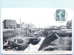 59 ,dunkerque ,le Canal Conduisant Aux Bassins Et Ses Péniches En 1909 - Dunkerque