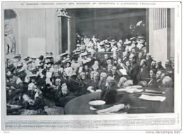 Séance De Réception De M. Edmond Rostand à L´Académie Francaise - Page Original - Alte Seite 1903 - Documents Historiques
