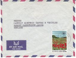 Idées Européennes - Protection De La Nature - Fleurs - Chypre - Lettre De 1970 - Oblitération Nicosia - Chypre (République)