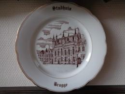 6 Unieke Borden Magvam Porselein Van BRUGGE Te IEPER (assiette) - Céramiques