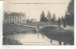 Champremault, Le Chateau, Vue Prise Dans Le Parc - France