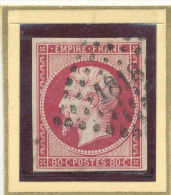 N°17 NUANCE ET OBLITERATION. - 1853-1860 Napoléon III.