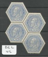 BEL COB TG 17 En Xx Bloc De 4 Variété 3 Boules Blanches Au Lieu De 4 à Droite ( Timbre Inf. Gauche ) YT Télégraphe 17 # - Telégrafo